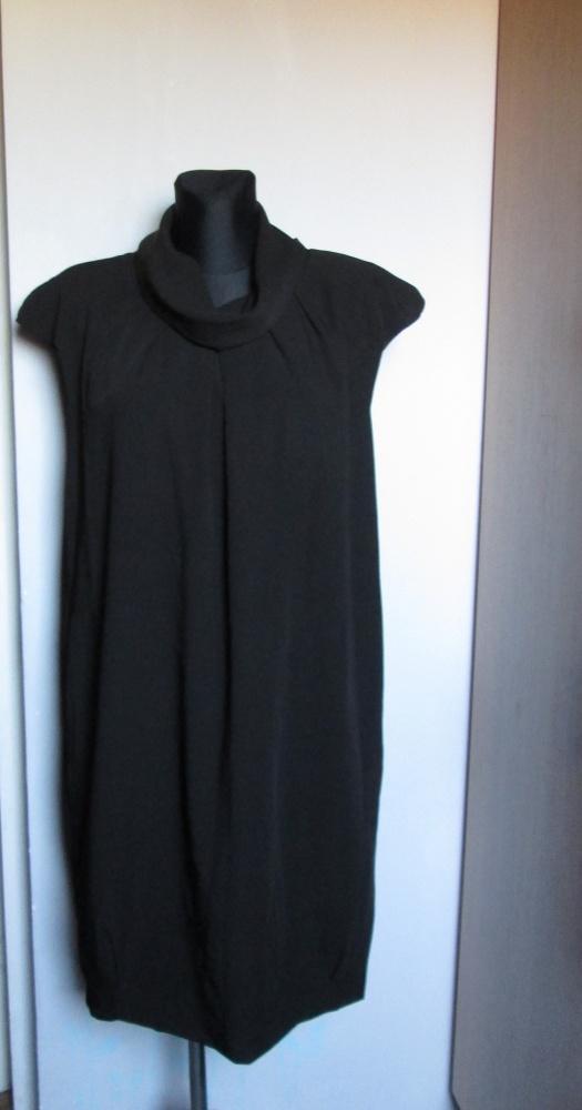 TOP SECRET luźna czarna elegancka sukienka