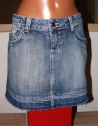 Victoria Beckham fajna spódniczka jeansowa M...