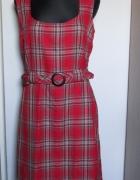 GEORGE śliczzna sukienka w czerwoną kratkę z dodatkiem popielu...