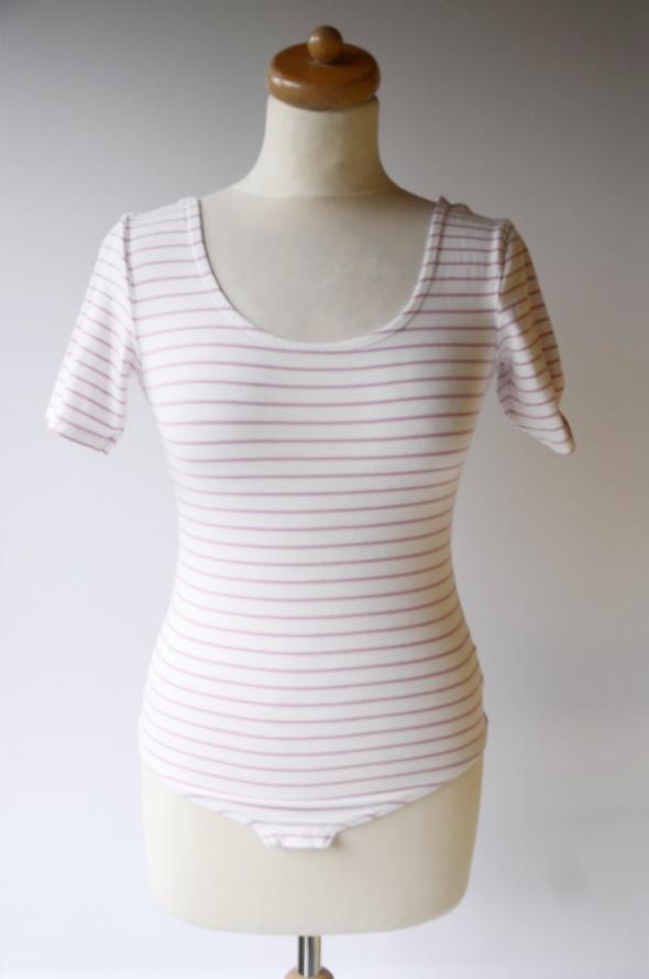 Body Paski Różowe Białe Gina Tricot S 36 Bluzka Paseczki