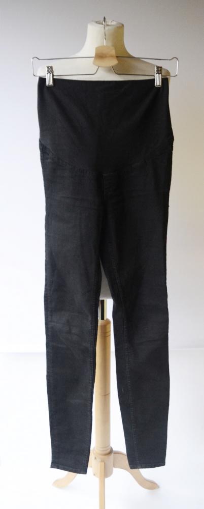 Spodnie H&M Mama Czarne Tregginsy XS 34 Slim High Rib