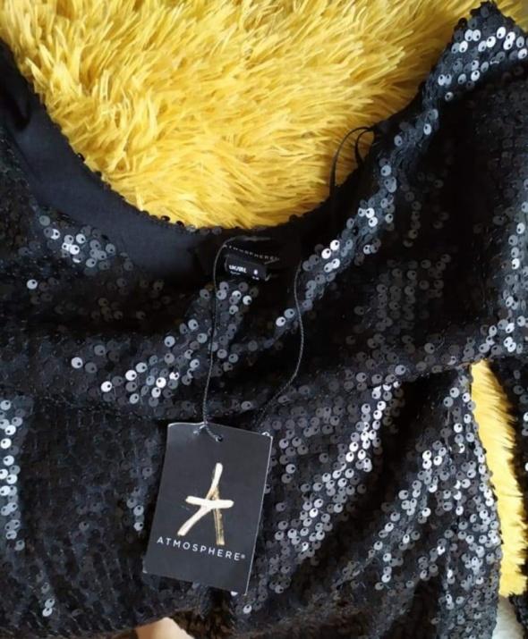 Sukienka w czarne cekiny...