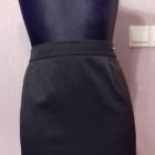 Elegancka czarna spódnica w drobne prążki mini ołówkowa M