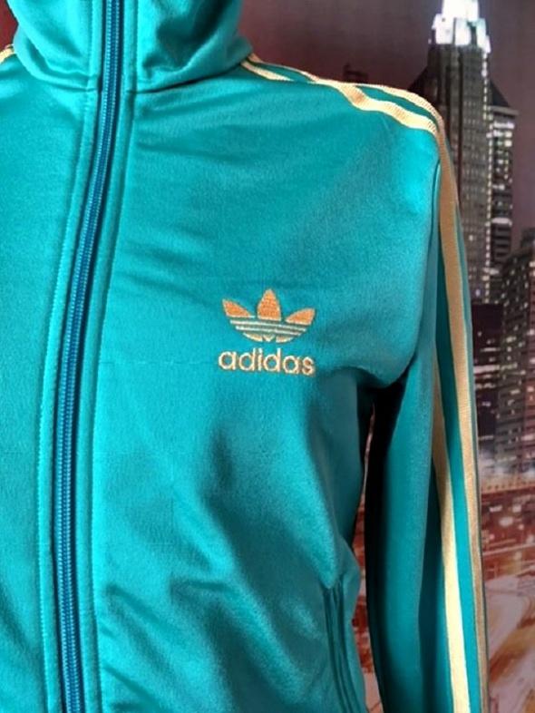 Kurtka Adidas turkusowa 38