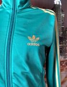adidas bluza dresowa turkusowa jak nowa okazja hit logowana 38...