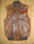 Leather Warehouse kamizelka ze skóry ocieplana roz M...