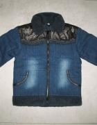 MUST HAVE jeansowa zimowa kurtka chłopięca roz 128...