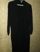 Czarny długi sweter kardigan 40...