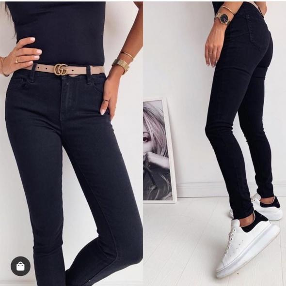 Spodnie czarne rurki PUSH UP