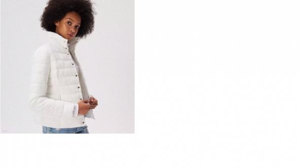 pikowana biała kurtka sinsay...