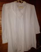 Biała bluzka z haftowanym kołnierzykiem roz 40 42...
