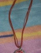 naszyjnik czerwony z dużym wisiorkiem
