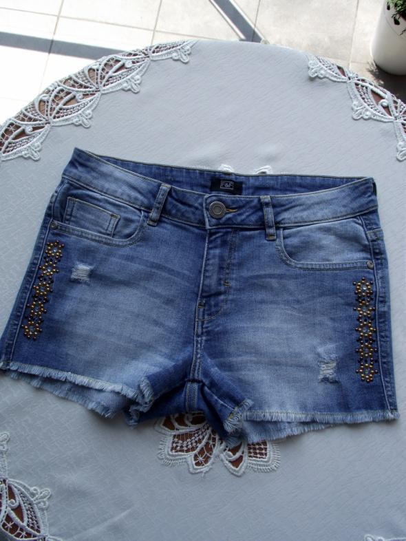 Krótkie spodenki szorty damskie jeansowe F&F 36 S...