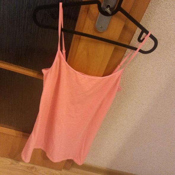 różowy dopasowany top rozmiar M H&M