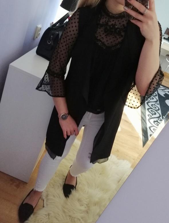 Czarna long kamizelka New Look...