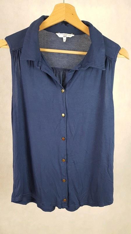 Granatowa elegancka bluzka bez rękawów new look 12 40...