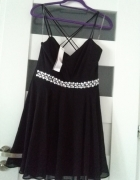 Nowa sukienka mgiełka z ozdobami...