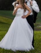Suknia ślubna 34 36 plus dwa welony i bolerko...