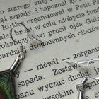 kolczyki pióra paw etniczne boho bigle srebro 925