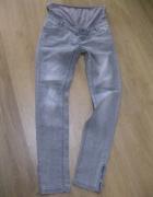 spodnie jeans ciążowe 38 szare skinny...