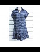 Włoska sukienka w kratkę...