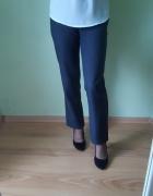 Spodnie klasyczne proste nogawki ciemne szare szary 34 XS 6...