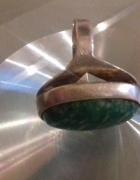 Prosty elegancki ze srebra pierścionek z amazonitem