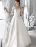 Śnieżnobiała romantyczna suknia ślubna AGNES...