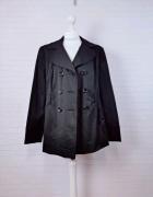 14 42 XL Debenhams Plus Size Czarna kurteczka krótki płaszczyk...