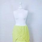 14 42 XL Missguided Plus Size Limonkowa zakładana spódnica