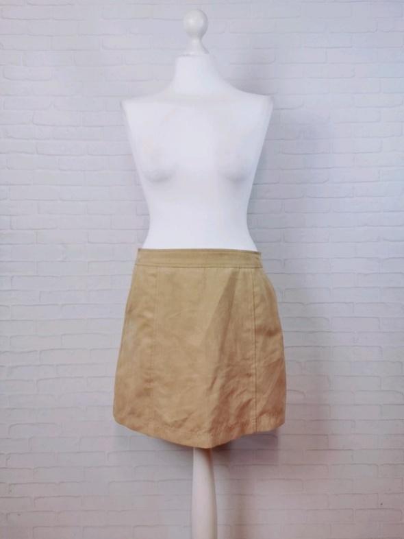 Spódnice 12 40 L New Look Beżowa kawa z mlekiem spódnica lekki zamsz