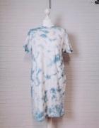 6 34 XS Atmosphere Błękitna biała sukienka z kieszonką...