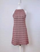 10 38 M Zara Wielobarwna wzorzysta sukienka...
