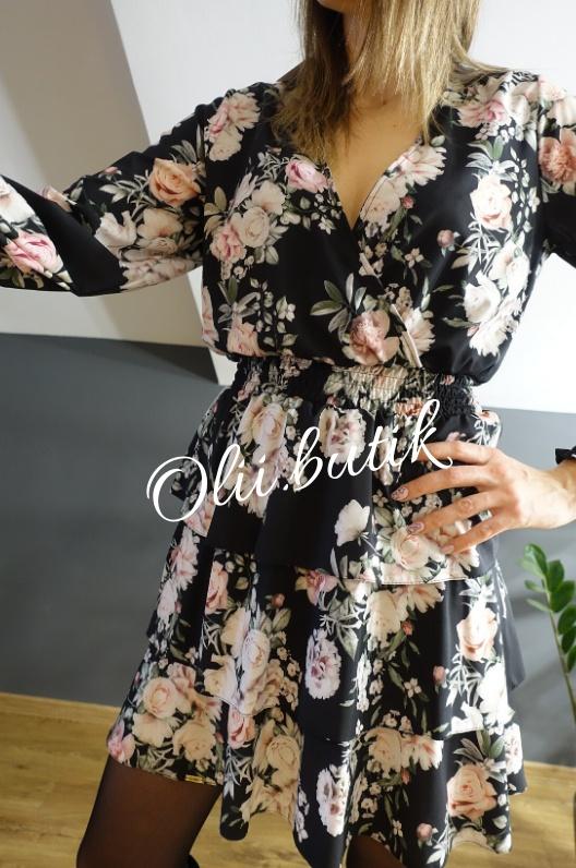 Kwiatowa mini sukienka LOLA 38