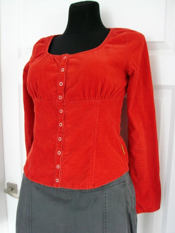 Sztruksowa bluzka z okrągłym dekoltem Cotton Club...