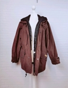 14 42 XL Lee Vally Plus Size oversize Brązowa kurteczka z kaptu...