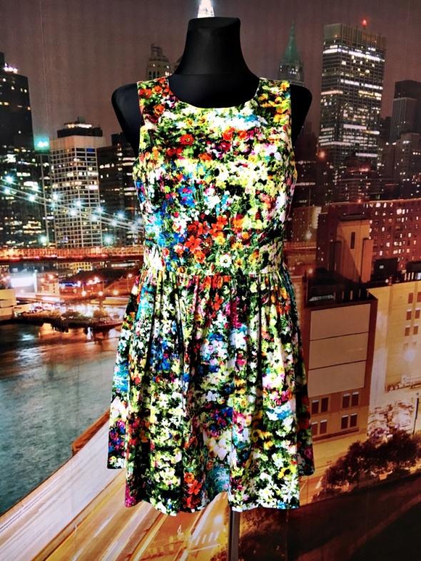 Suknie i sukienki joe browns sukienka rozkloszowana kwiaty floral nowa 40 L