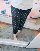 18 46 3XL M&S Plus Size Czarne spodnie białe groszki kropki...