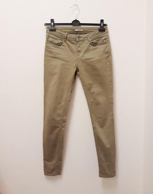 Mexx spodnie jeansy skinny rurki khaki oliwkowe