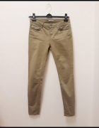 Mexx spodnie jeansy skinny rurki khaki oliwkowe...