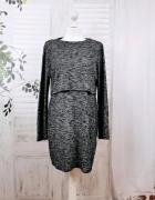 10 38 M H&M Melanżowa elastyczna sukienka...