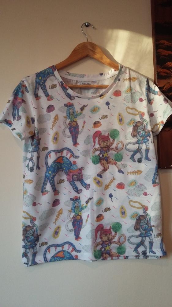 T shirt w kolorowe koty marki CROPP TOWN...