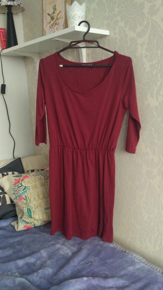 Bordowa sukienka Terranova...