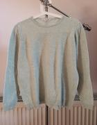 MARKS&SPENCER miętowy niebieski zielony sweter...