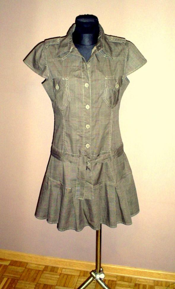 Suknie i sukienki Nowa brązowa sukienka w kratkę