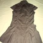 Nowa brązowa sukienka w kratkę