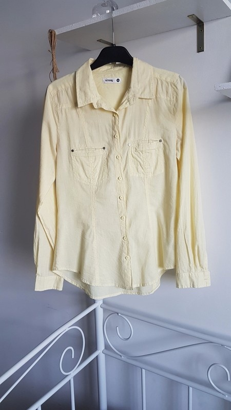 Sinsay koszula cytrynowa pastel...
