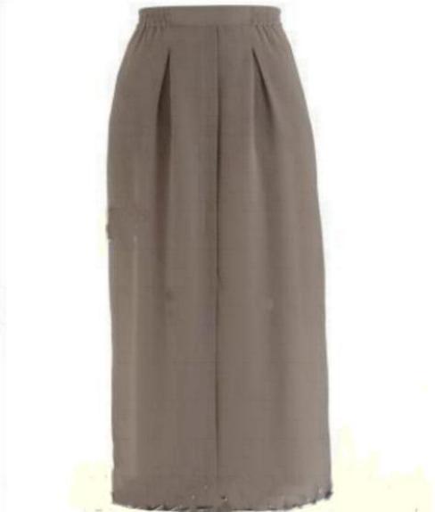 Spódnice Długa elegancka spódnica beżowa taupe