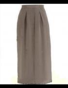 Długa elegancka spódnica beżowa taupe...