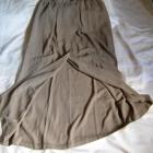 Długa elegancka spódnica beżowa taupe